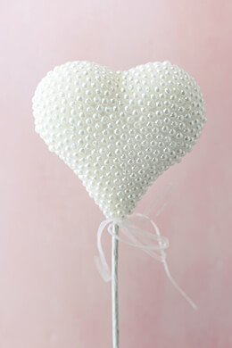 Pearl Heart Cake Topper