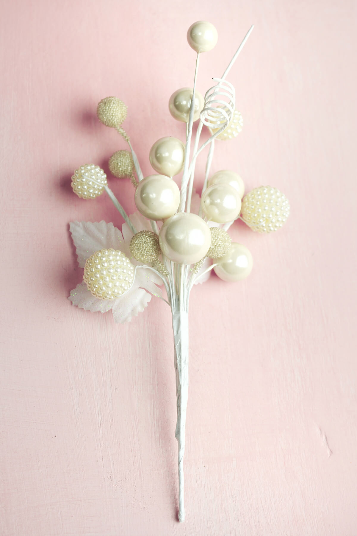 White Pearl Sprays 8 Quot Floral Picks