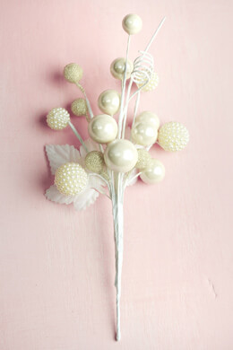 "White Pearl Sprays 8"", Floral Picks"