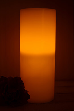 """Gerson  15"""" Grand Flameless Candle with 3 LED Wicks"""
