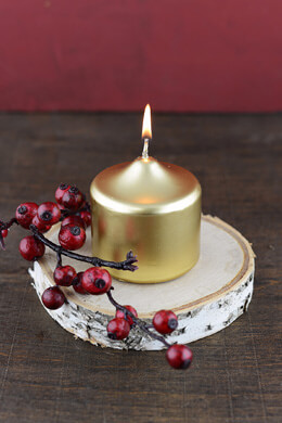 3 inch Gold Votive Candles