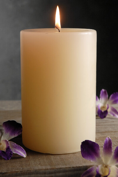 4x6 Ivory Pillar Candle Unscented