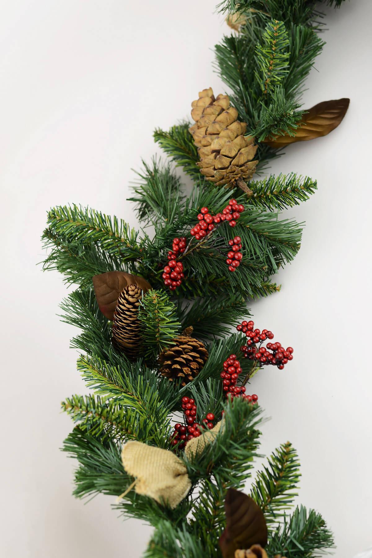 michaels christmas garland pine cones - Michaels Christmas Garland