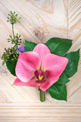 Pink & Violet Orchid w/ Berries Corsage Boutonnière