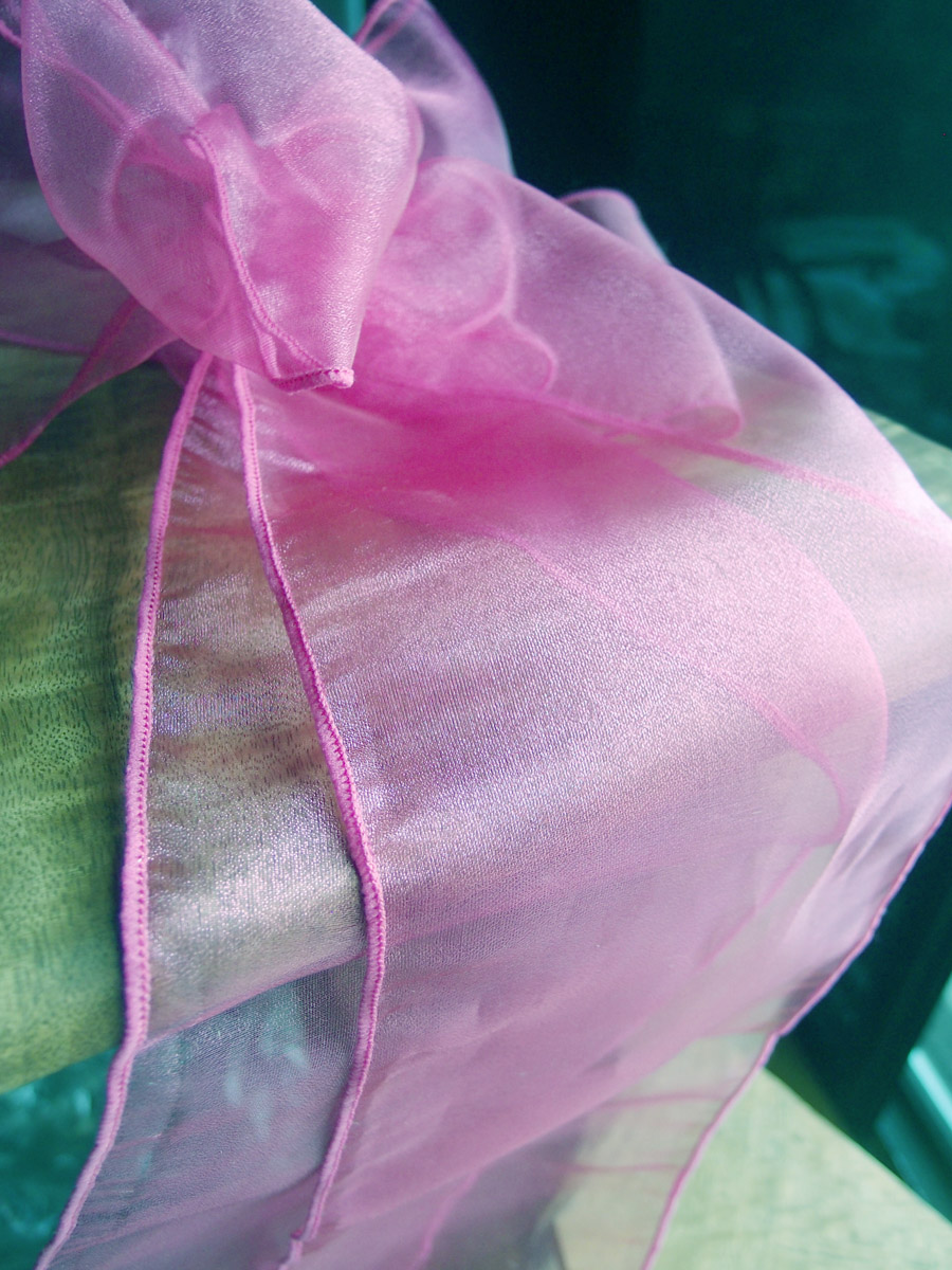 """Pink Organza Chair Sashes 9"""" Wide  (Pack of 10)"""