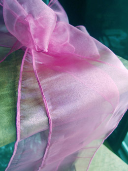 "Pink Organza Chair Sashes 9"" Wide  (Pack of 10)"