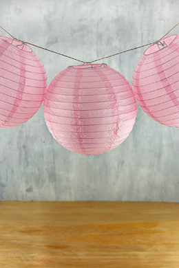 "10 Japanese Paper Lantern - Pink - 8""  (PACK of 10)"