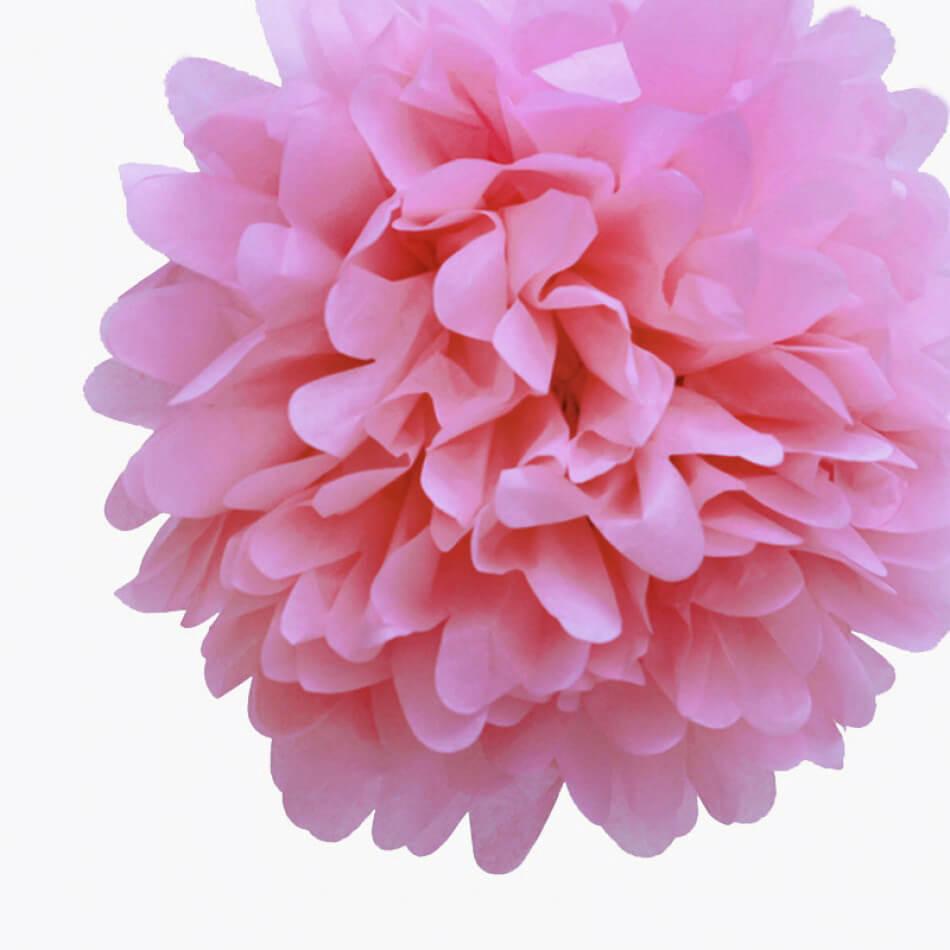 Tissue Paper Pom Poms 16 Pink Pack Of 4