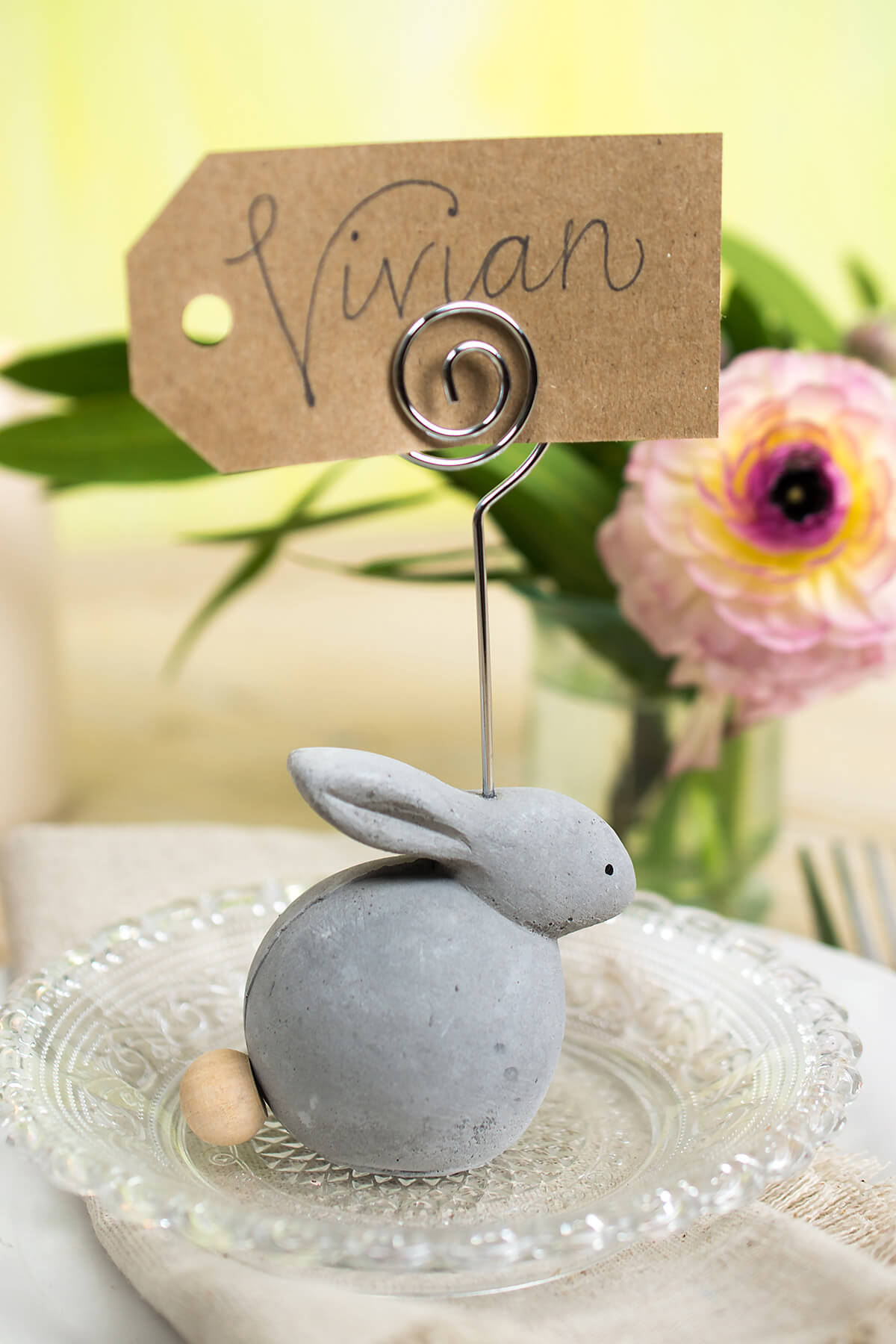 Bunny Placecard Holder Set 8 Pieces