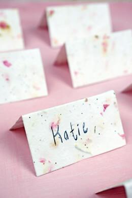 Handmade Blossom Seeded Place Cards 16pk
