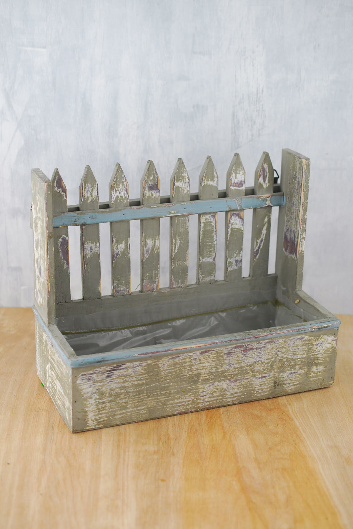 Wood Picket Fence 9x11 Planter Box