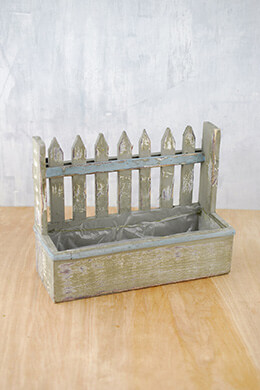Planter Box Picket Fence 10""