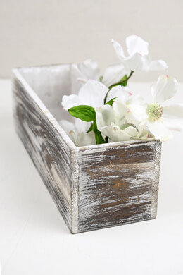 White Washed 4x12 Planter Boxes Wood