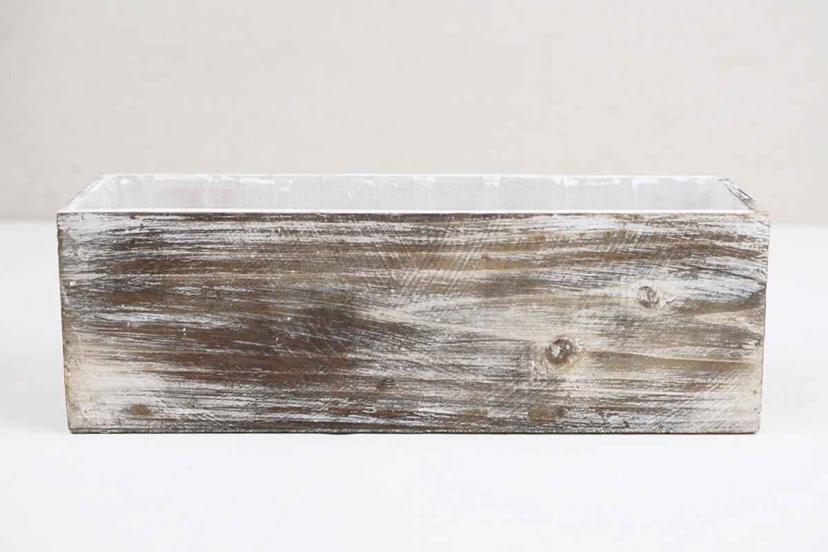 White Washed 4x12 Planter Boxes Wood