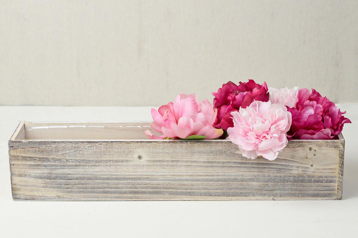 White washed wood 20x4 planter box mightylinksfo