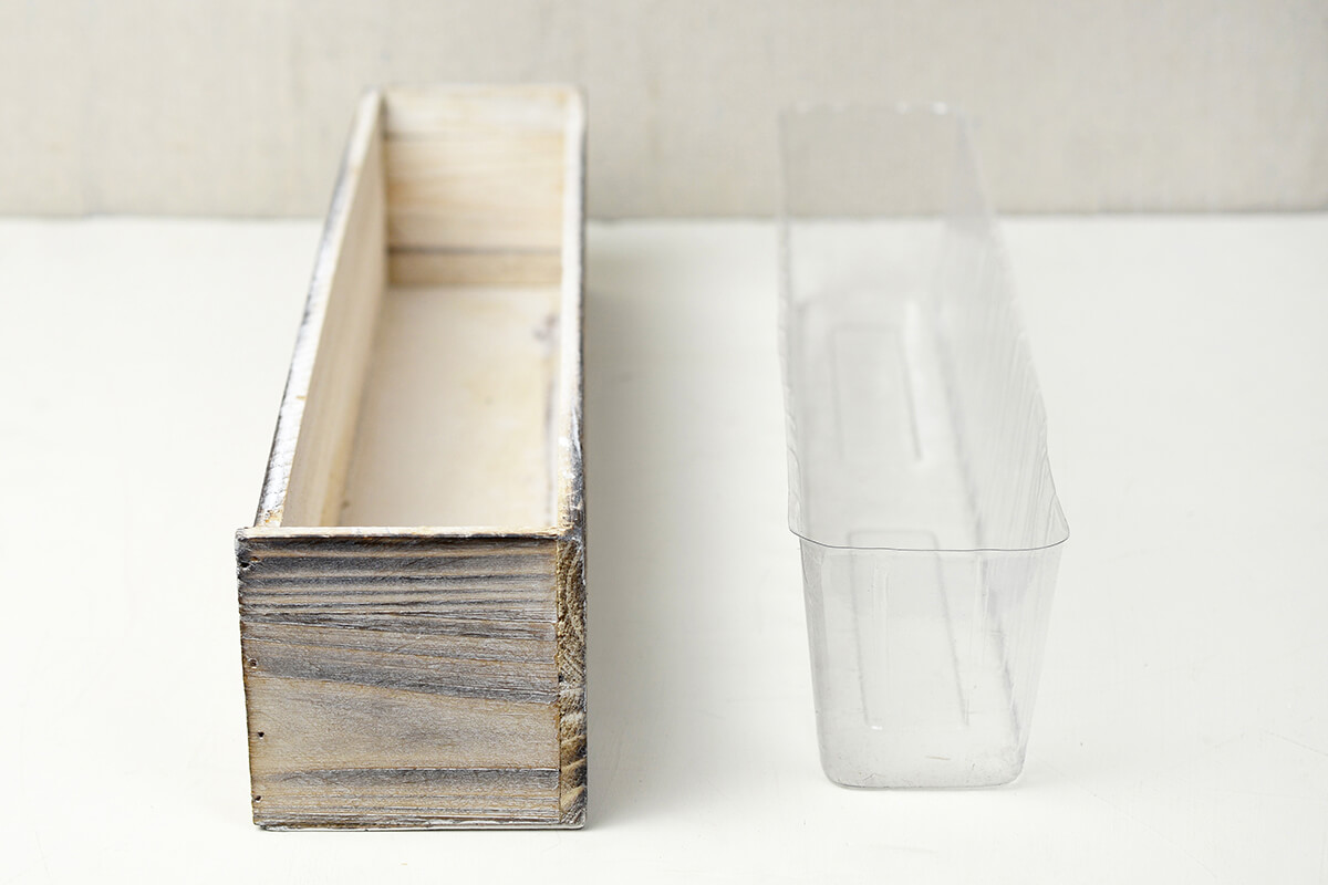 White Washed Wood 20x4 Planter Box