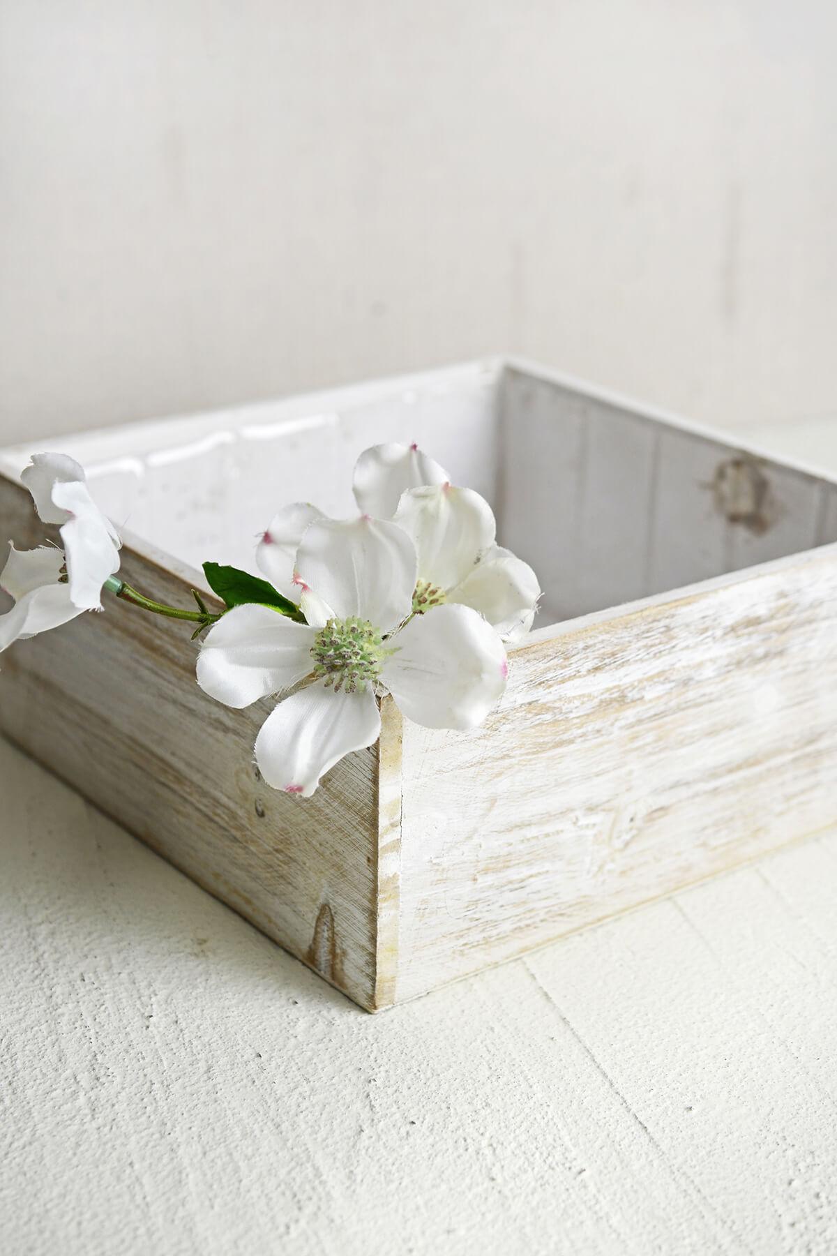 White wood square planter box 9x9 mightylinksfo