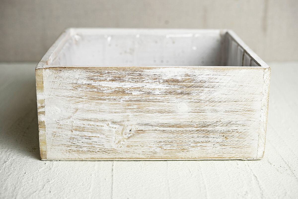 White Wood Square Planter Box 9x9