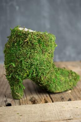 "Moss Covered Ladies Boot 7"" Topiary Planter"