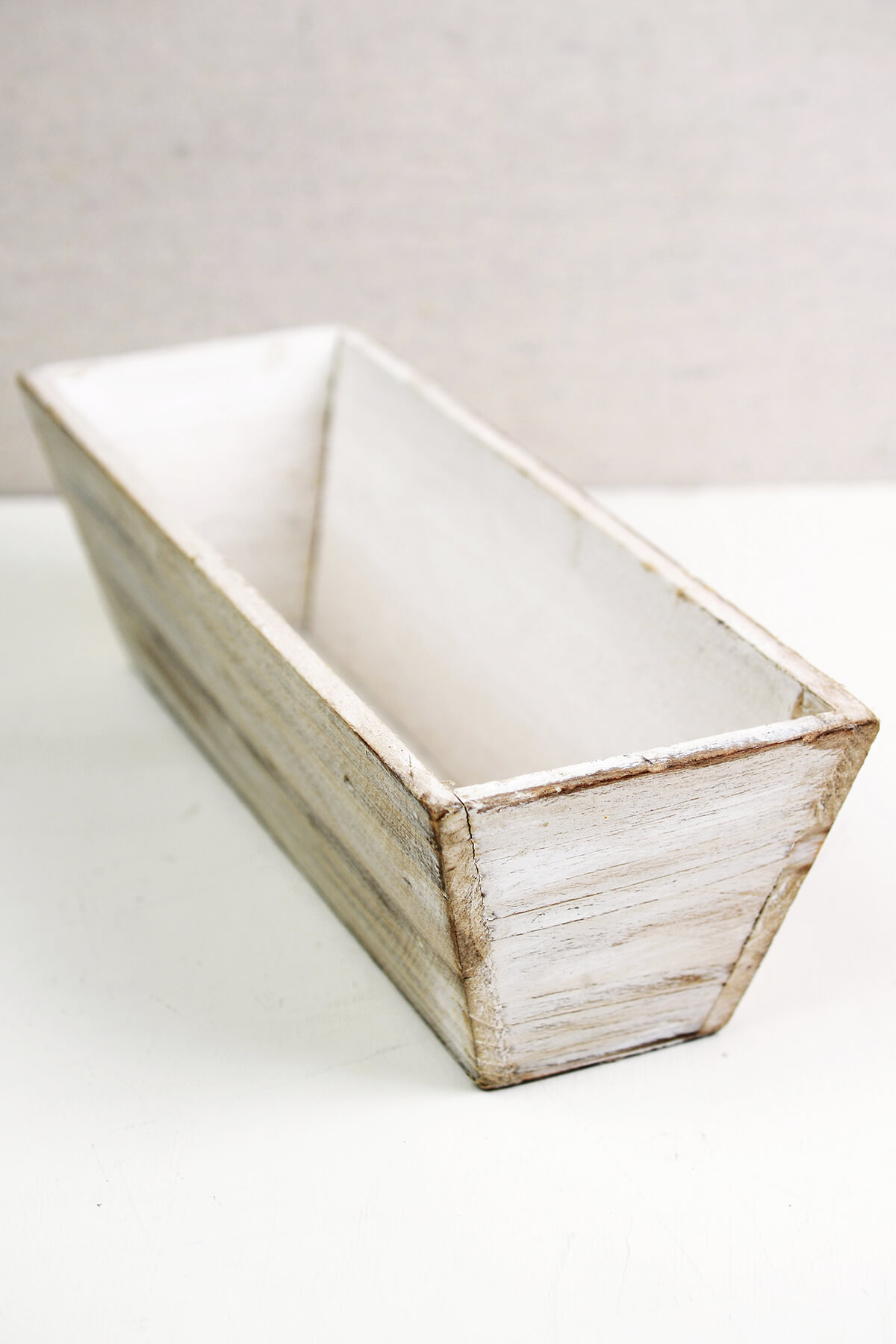 White Tapered 4x12 Planter Boxes Wood