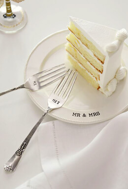 Mud Pie Mr. & Mrs Wedding Cake Tasting Set