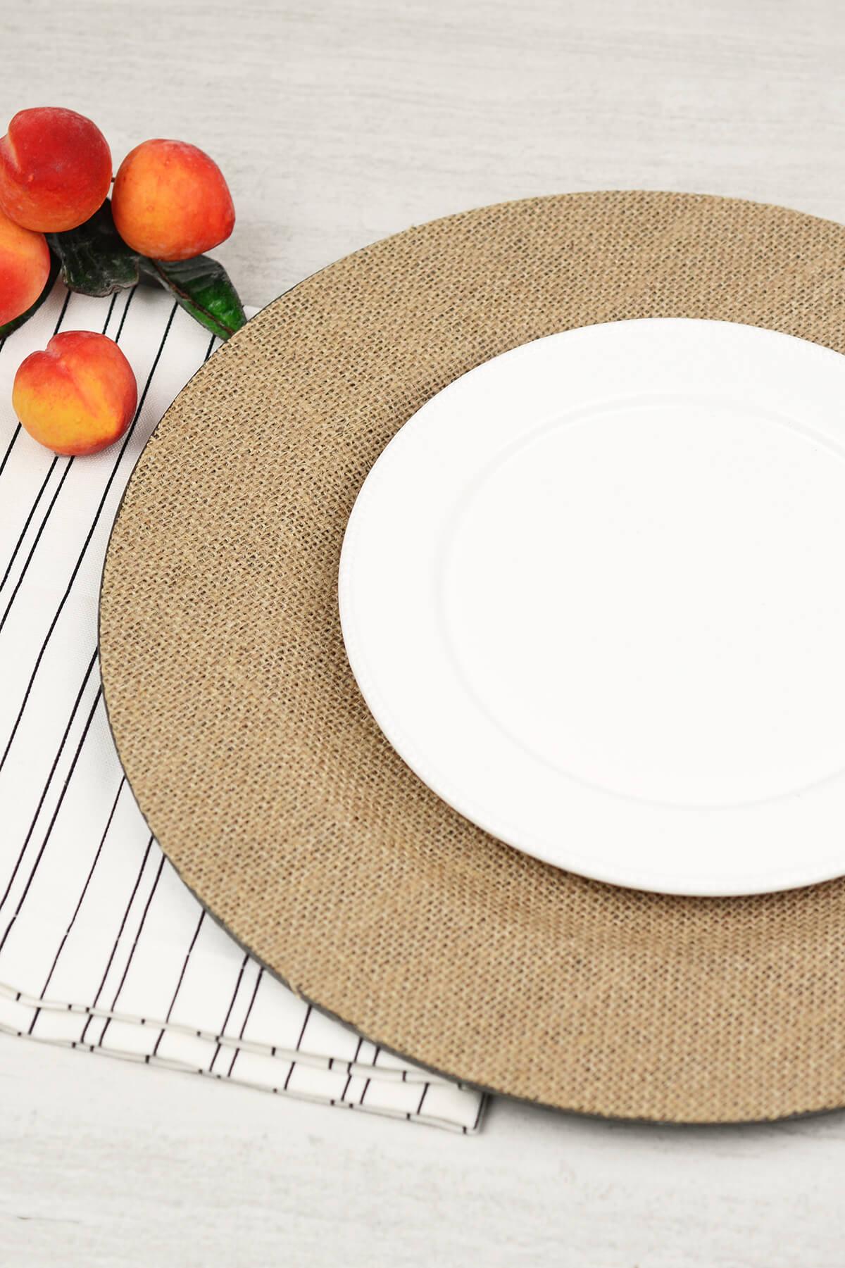 Burlap Charger Plates & Chargers \u0026 Serveware