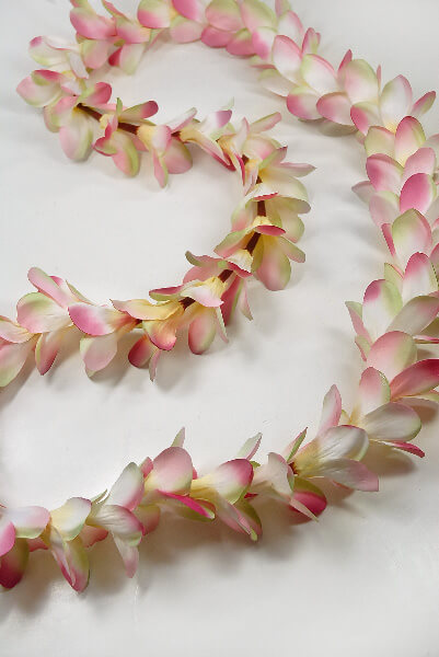 plumeria leis pink silk flowers 4 - wedding beach signs