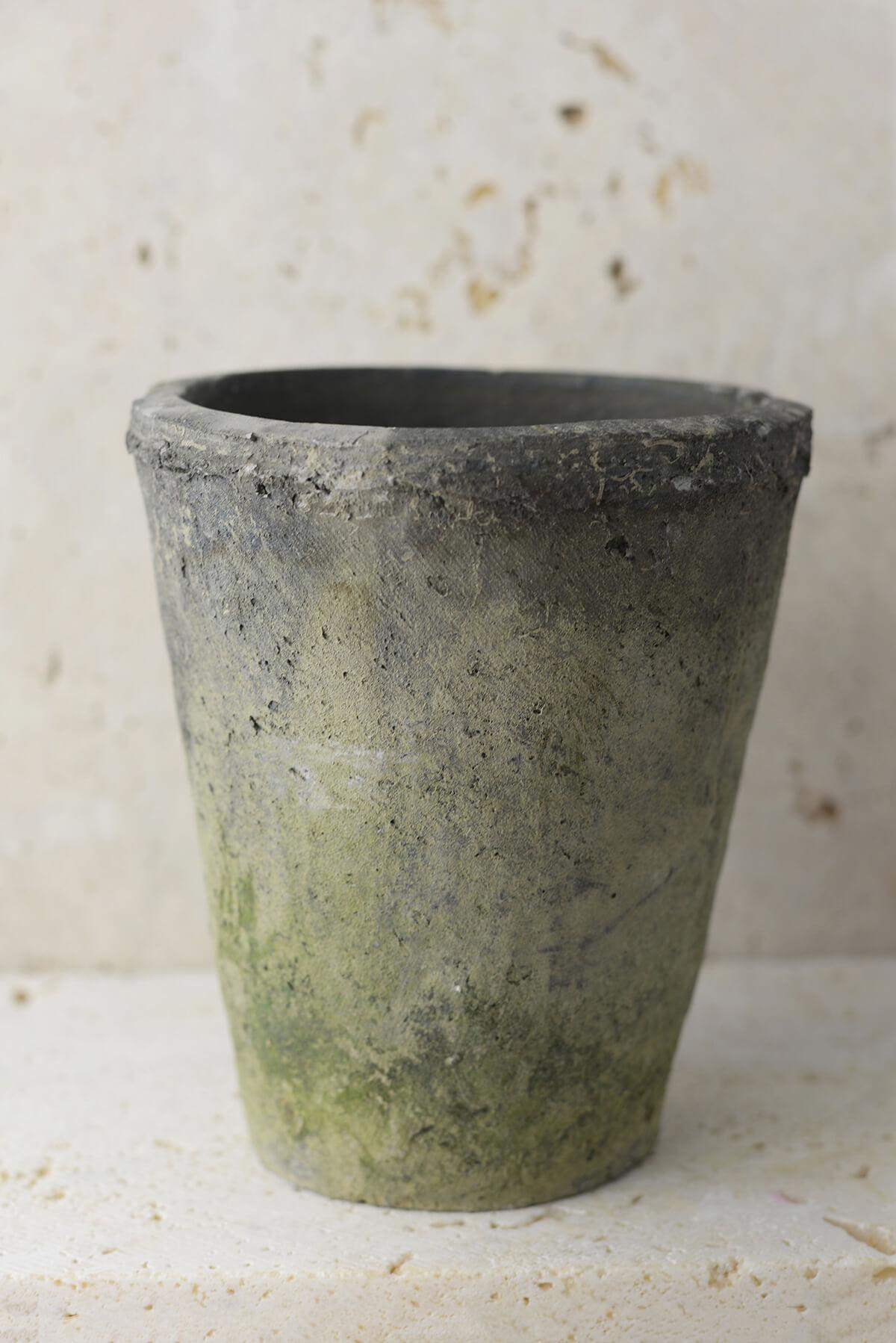 Homespun Cement Pot 5 3 4 Inch
