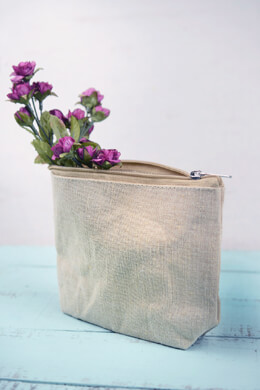 Zippered 7x5 Burlap Bag