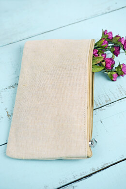 Zippered 9x5 Burlap Bag