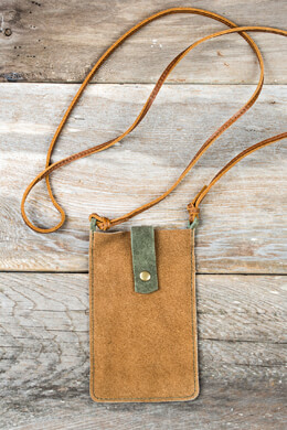 Suede Leather iPhone Case, Cross Body