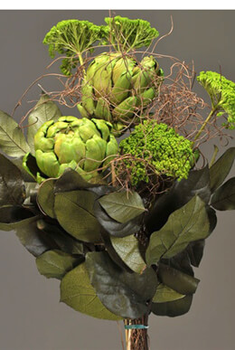 Dried & Preserved Artichoke & Angel Vine Bouquet 24""