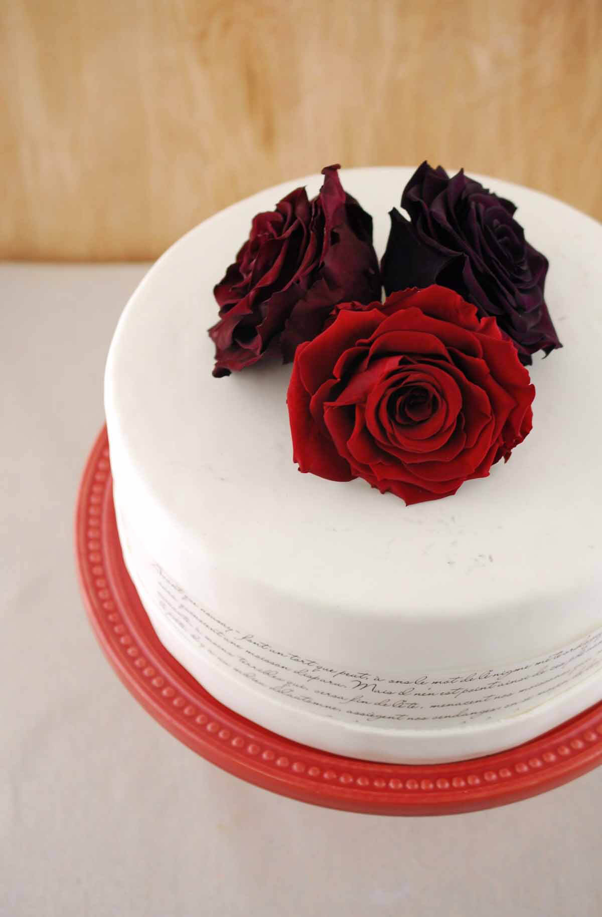 "Preserved Roses 4"" Burgundy Red"