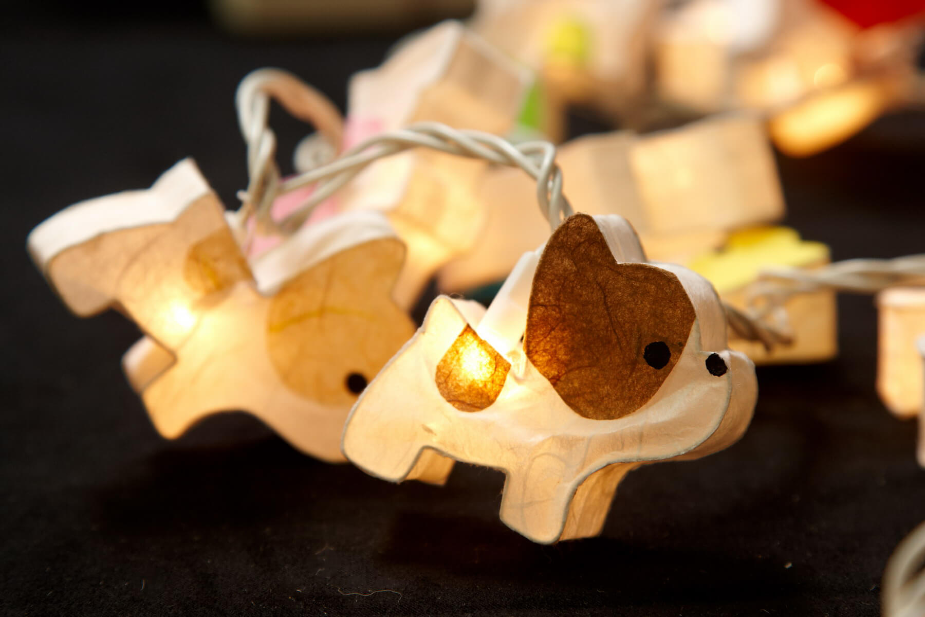 Puppy Dog Paper Handmade String Lights Garland