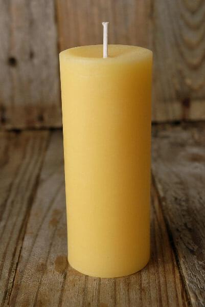 "Pure Beeswax Pillar Candles 4.5"""