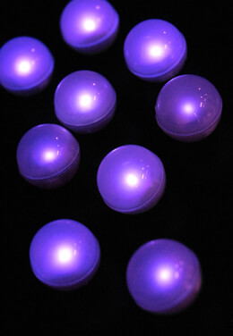 "Fairy Berries 10 Magical LED Lights, 3/4"" Diameter, Purple (Case of 10)"