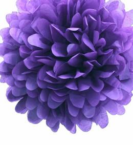 """4 Tissue Paper Pom Poms 8"""" Lavender"""