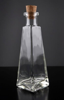 Clear Glass 6 oz. Pyramid Glass Bottles 7in