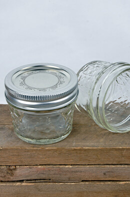 12 Ball  4oz Quilted Jelly Jars