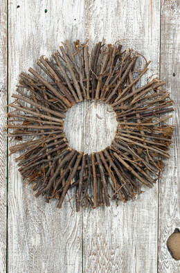 "16"" Natural Twig Wreath"