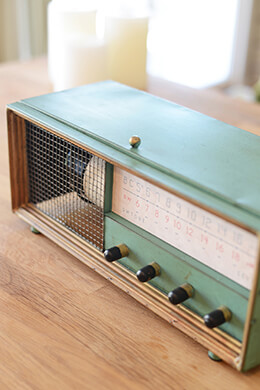 Antique Radio Metal Wine Box