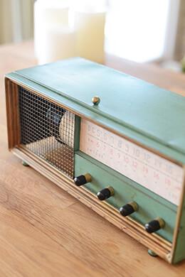 Antique Radio Metal Wine Box
