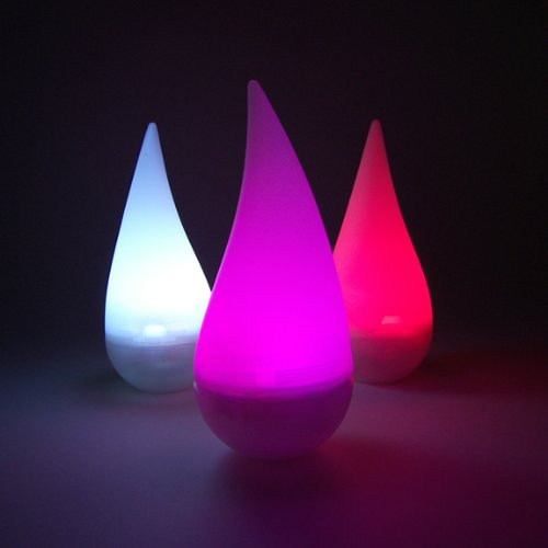 Color-Changing LED Rainbow Raindrop Light, Battery Operated