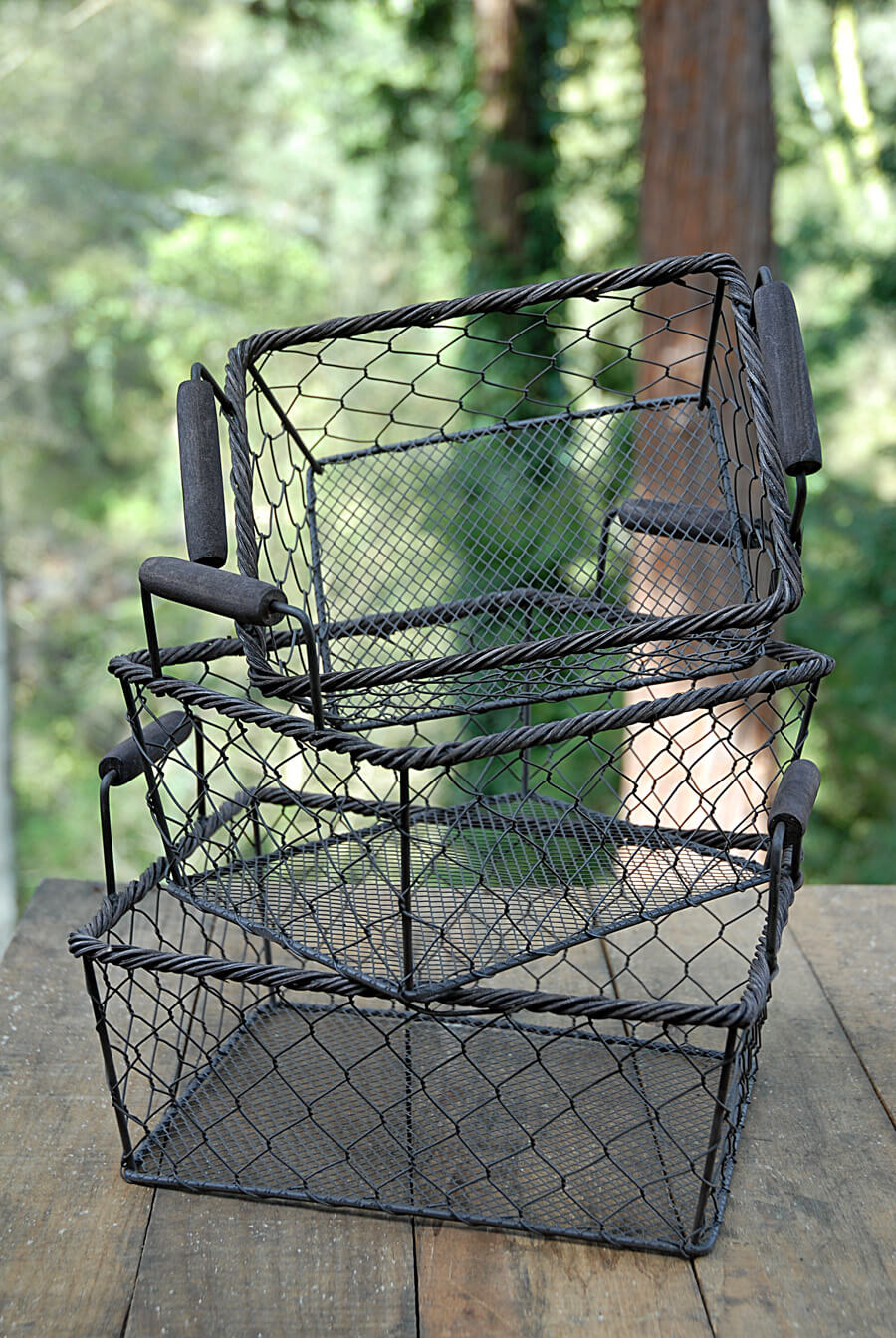 Rustic Rectangle Wire Basket, Large 9 Wire baskets