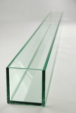 Large 47in Long Thick Glass Display, Candleholder, Planter 4x47