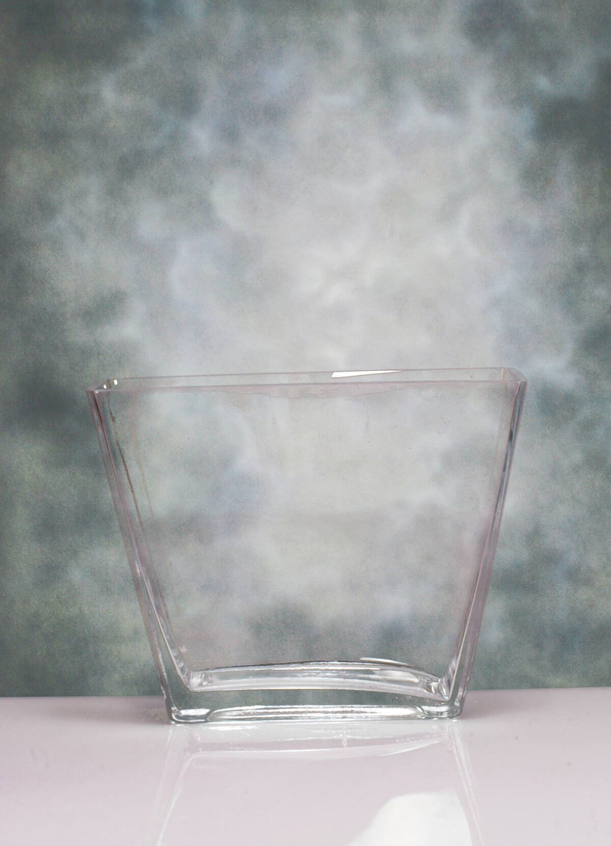 Rectangular Vase Tapered 9 5x4 5x7 5in