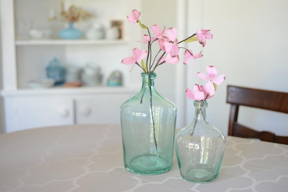 """Aqua Glass Laguna Vase 12"""", Demijohn Terrarium"""