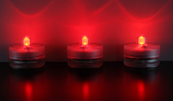 Floralytes RED Submersible III (Pack of 10) On/Off Button & Three Light Settings