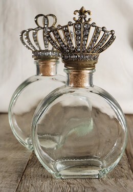 Crown Top Bottles|Set of 2