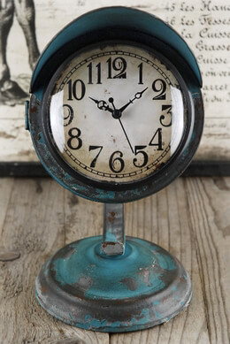 Table Clock Retro Blue